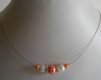 Bridal rhinestone and Pearl coral and white