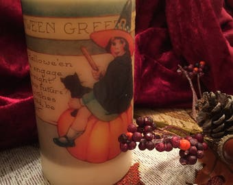 Vintage Witch Candle
