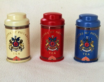 3 Jacksons of Piccadilly Tea Tins - in Mint Condition