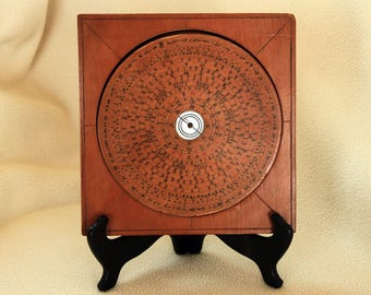 FENG SHUI Chinese Wooden Geomantic Compass - with Stand