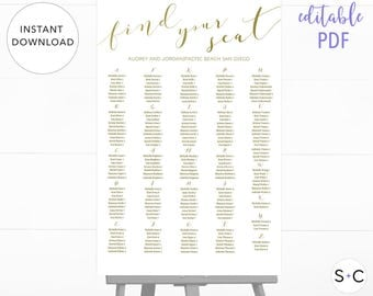 Seating Chart Poster | Etsy