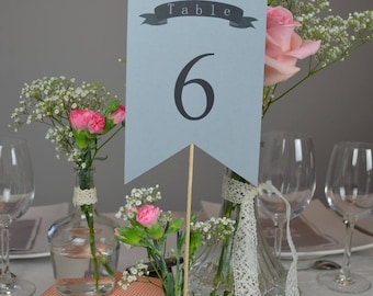Wedding decoration table names or numbers