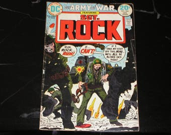 Our Army At War Featuring Sgt Rock #264 Bronze Age 1974 The Hunt Bob Kanigher Gallery Of War Good Condition 3.0