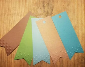 Polka dotted embossed tags