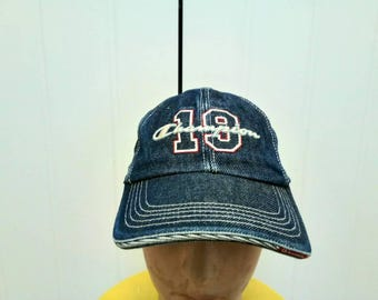 Rare Vintage CHAMPION Denim Cap Hat Free Size Fit All