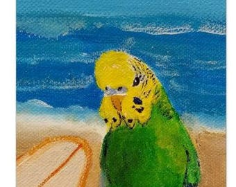 Parakeet Stationary - Note Cards - Print - 5x7