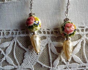 Earrings for pierced ears tensha beads