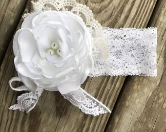 White couture headband