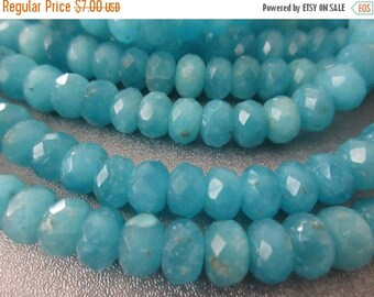 ON SALE 15% OFF Electric Blue Candy Quartz Faceted Roundel 9mm Beads 69pcs