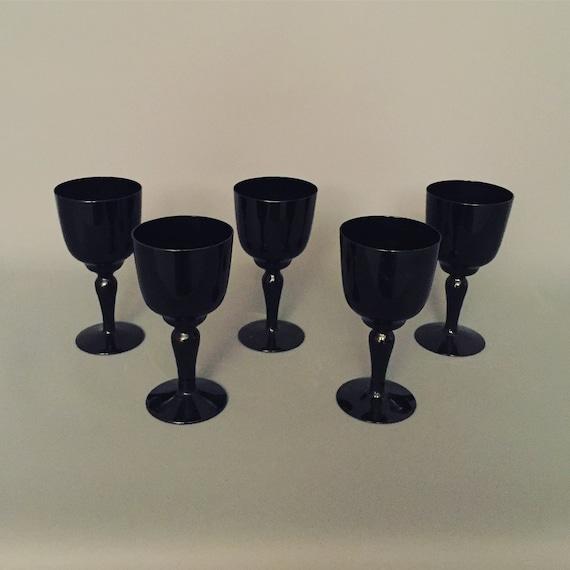 Italian black wine glasses