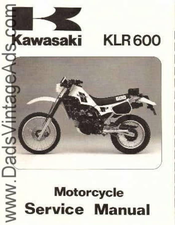 1984 Kawasaki KLR600-A1 Motorcycle Service Manual #mm10