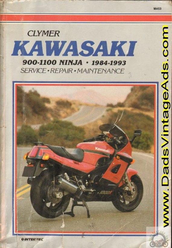 1984-1993 Kawasaki 900-1100 Ninja Motorcycle Repair / Service Clymer Manual #mm79