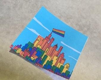 Gay Pride Cityscape
