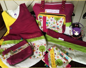 Diaper bag, Keychain, birthstone, owls, diaper bag purse has diaper and rugs, winter sleeping bag * on order - fabric choices *.