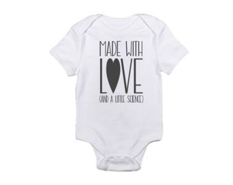 Made With Love & Science Onesie