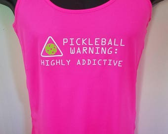 "Women's ""Addicted to Pickleball"" performance shirt"