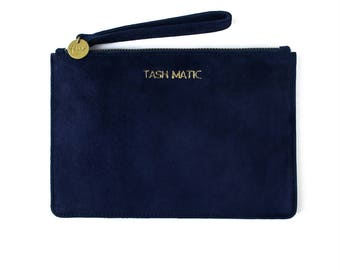 Penni - Navy Blue Suede