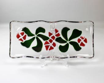 70's cake plate, cake plate, glass, pie cake plate dishes, Walther glass Germany