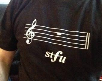 "T-shirt ""stfu"" (2XL) from Ball-So-Hard Conservatory - music humor band orchestra stfu"
