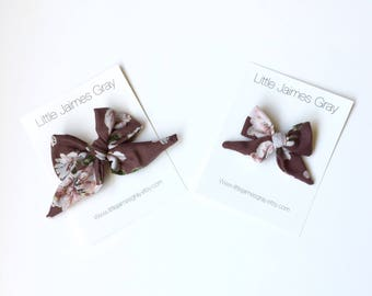 Sailor bow, nylon band, hair clip, mini bow