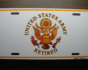 US ARMY VETERAN Metal Novelty License Plate For Cars And Trucks  U.S. Army