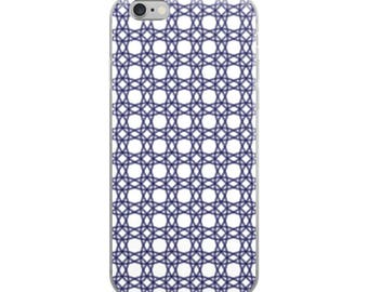Blue pattern iPhone case, pretty geometric color, protective AND beautiful