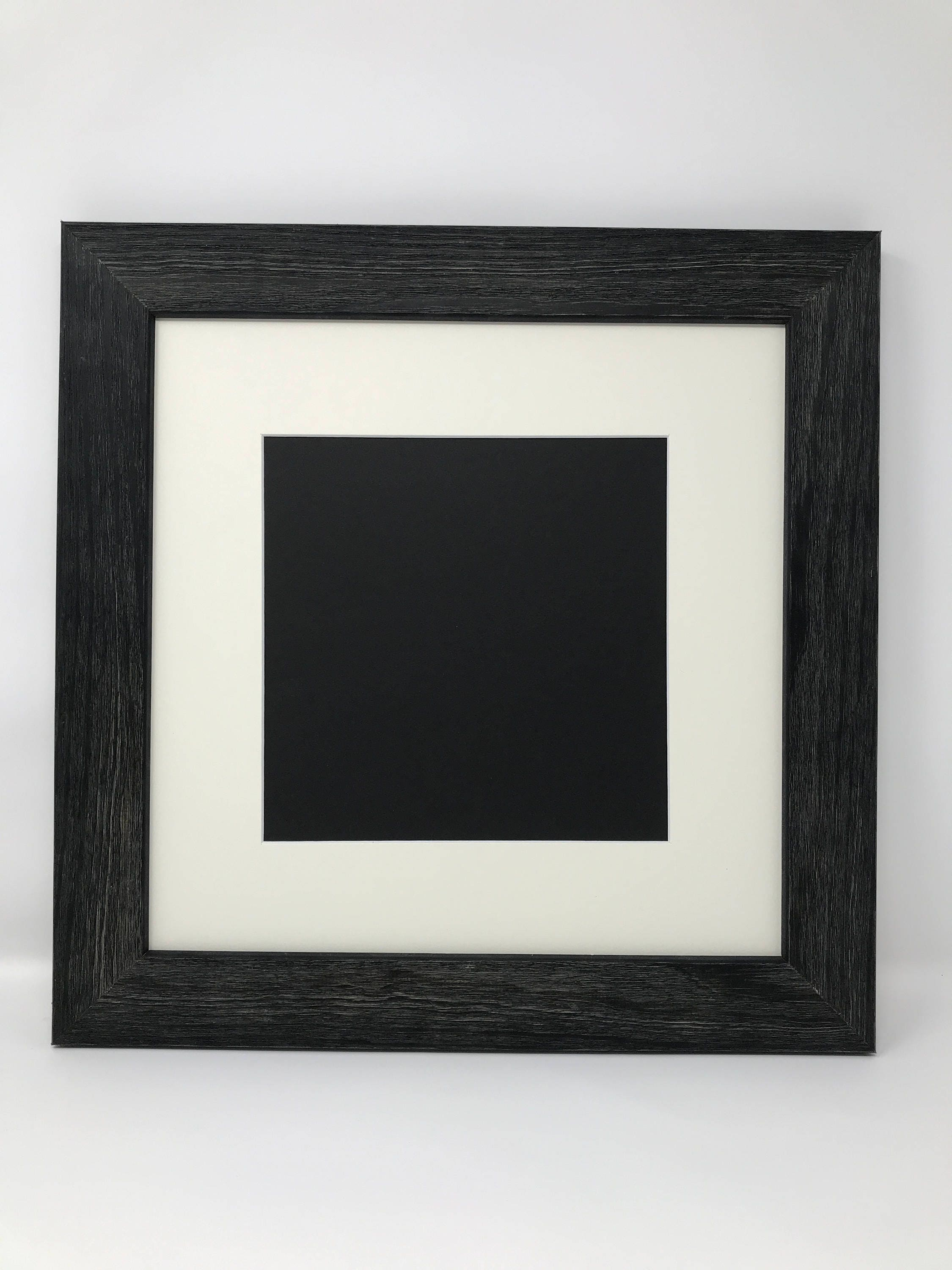16x16 Square 1 75 Rustic Black Solid Wood Picture Frame