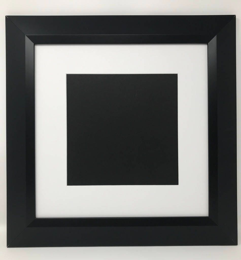 12x12 2 2 Black Beveled Contemporary Solid Wood Picture