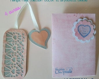 "Romantic bookmarks ""Heart"" and its matching gift bag"