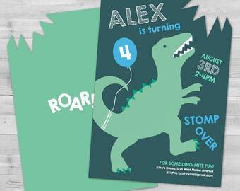 Dinosaur Invitation, Dinosaur Birthday Invitation, Boy Birthday Invitation Dinosaur, Dinosaur Party Invitation, Dino Boy Birthday Invitation