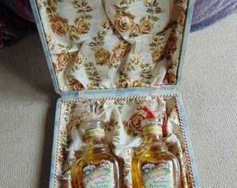 "VINTAGE c1930s J. Riviere et Cie Recherche Perfumes ""White Rose"" & ""Wallflower"""