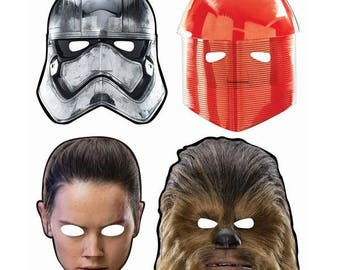 Star Wars The Last Jedi Paper Masks [8ct] Birthday Party Favors Supplies