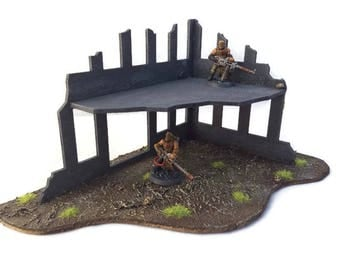 Warhammer 40k, Warhammer Terrain, 40k Terrain, Wargame Terrain, Wargaming Terrain, Ruined Building, WH40k