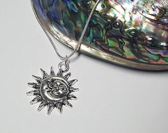 Moon Jewelry, Sun Jewelry, Moon Pendant, Moon Necklace, Sun Necklace, Sun Pendant, Boho Necklace, Moon Jewellery, Sun Jewellery, Moon, Sun