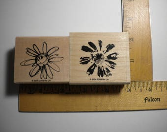 Rubber Craft Stamp - PETAL PRINTS - Daisy, Stampin' Up - 2004, pay it forward, PIF