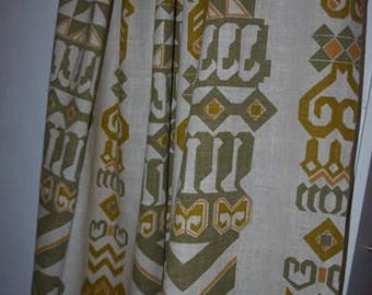 Curtains - 2 panels - Linen - Soft color - Scandinavian Design - Vintage