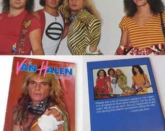 The Van Halen Scrapbook 1984 With David Lee Roth Cover Music Collectible Book /  Eddie Van Halen ISBN 0451821025