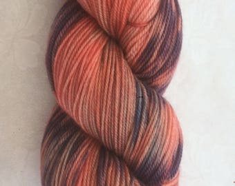 Luxury Hand Dyed Scripture Yarn - 'Comforted of God', on a super soft merino, silk, cashmere base, 4ply.