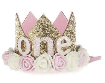 1st birthday hat, birthday crown,Princess Crown,Cake Smash Crown,Birthday Headband ,1/2 birthday crown