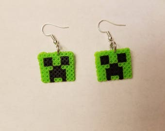Minecraft Creeper earrings - Set of 8 pairs of earrings