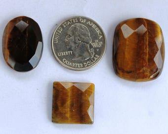 Black Tiger Eye Cabochon 75.5Ct (28x23x7 mm) Chushion  Natural gemstone,Fancy Cabochon, Semi Precious Stone Cabochon for Pendent & Jwellary