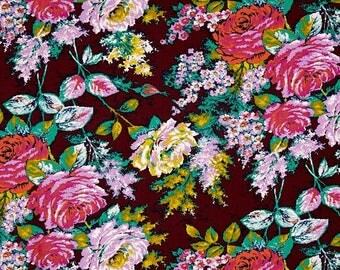 Jennifer Paganelli Fabric - Color Brigade Rachel in Maroon - Easter Fabric by the Yard