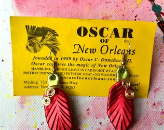 "Wire Wrapped ""Oscar of New Orleans"" Earrings"
