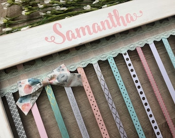 Bow Holder, Headband Organizer, Gift for Her, Hair Bow Holder, Baby Shower Gift, Boho Nursery, Headband Holder