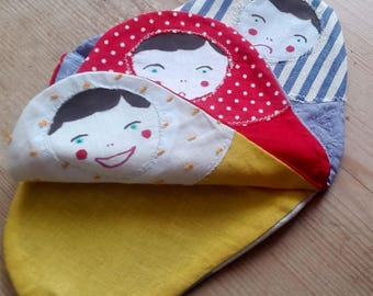 Lightweight fabric with a Russian doll book