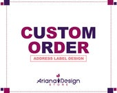 Custom Order: Printable and personalized Address Label
