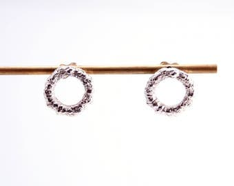 RAMUR earrings, stelring silver, ARBE collection, handmade