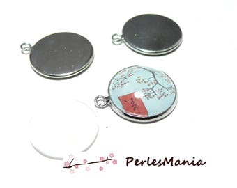 40 pieces: 20 16mm stainless steel and 20 cab PENDANT backings
