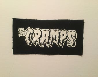 The Cramps hand screen printed patch