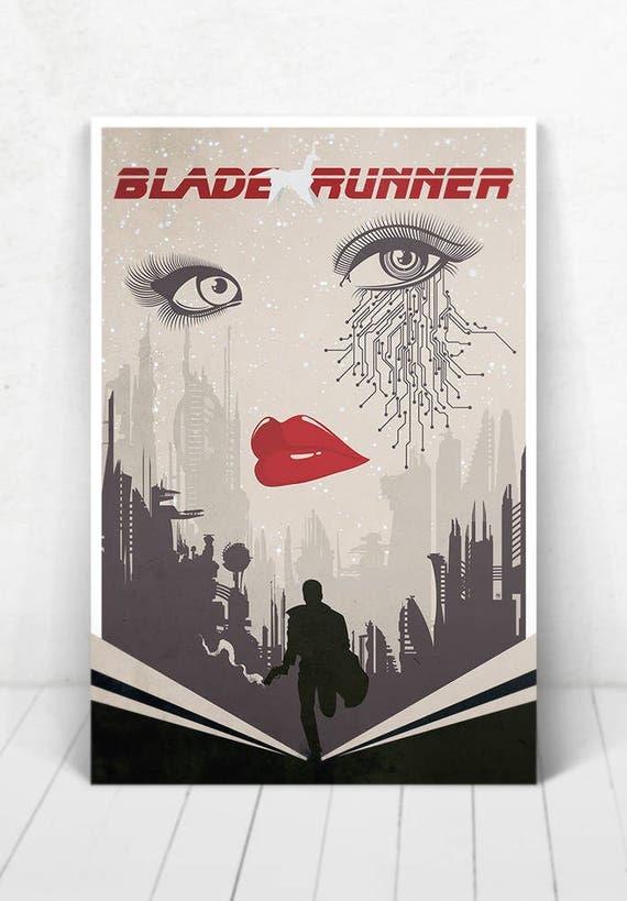 Blade Runner Movie Poster Illustration / Blade Runner Movie Poster / Blade Runner / Movie Poster / Harrison Ford